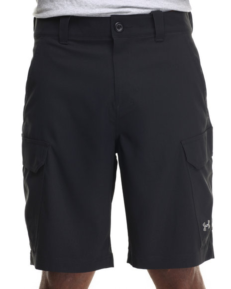 Ur-ID 216255 Under Armour - Men Black Fish Hook Cargo Shorts