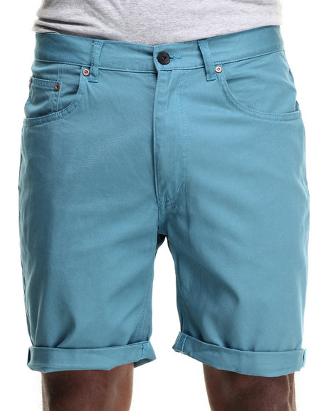 Ur-ID 216267 WESC - Men Teal Conway Twill 5-Pocket Shorts