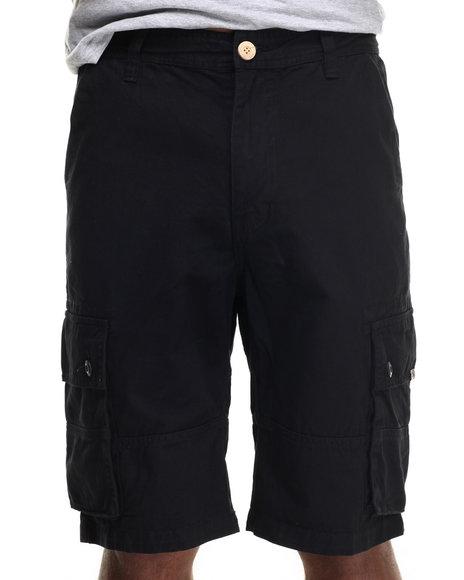 AKOO - Men Black Desert Track Twill Cargo Shorts