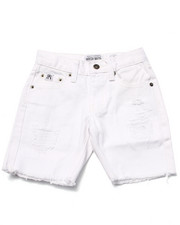 Bottoms - DISTRESSED TWILL SHORTS (4-7)