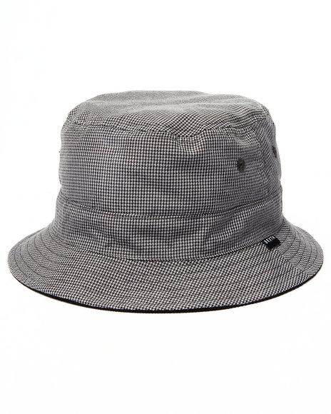 Brixton - Men Black,Grey Tull Reversible Bucket Hat - $40.00