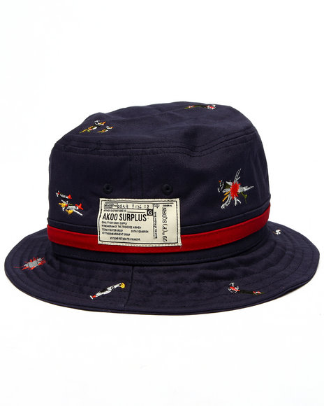 Ur-ID 216293 AKOO - Men Navy Macarthy Bucket Hat