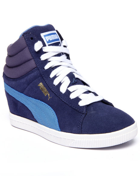 Ur-ID 216354 Puma - Women Blue Pc Wedge Basic Sports Sneakers