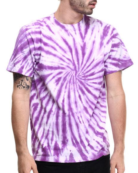 Ur-ID 216368 Basic Essentials - Men Purple Tie - Dye S/S Tee