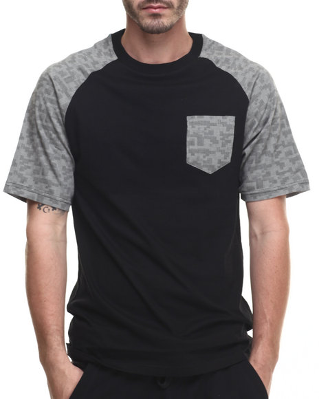 Buyers Picks - Men Black Digi Image S/S Tee