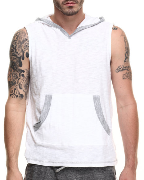 Buyers Picks - Men White Carter Sleeveless Hoody