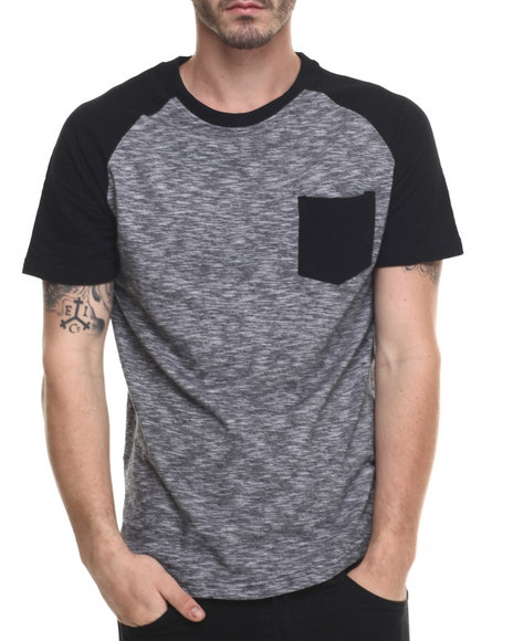 Buyers Picks - Men Black End On End Raglan S/S Tee