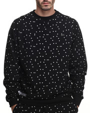 Pullover Sweatshirts - Digi Dot Crew Fleece Sweatshirt