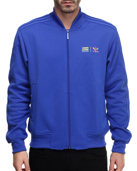 Ur-ID 216391 Adidas - Men Blue Supercolor By Pharrell Track Jacket