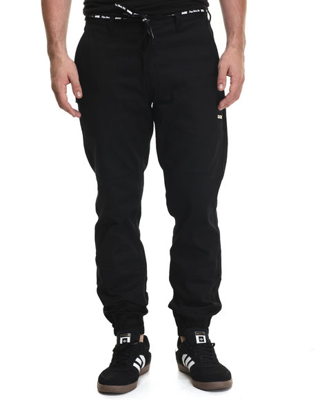 Dgk - Men Black Waist-Tie Jogger Pants
