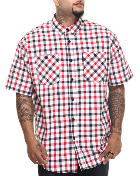 Ur-ID 216149 Ecko - Men Red Lawsonz S/S Button-Down (B&T)
