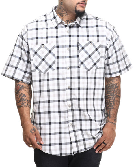 Ur-ID 216150 Ecko - Men Grey,White Lawsonz S/S Button-Down (B&T)