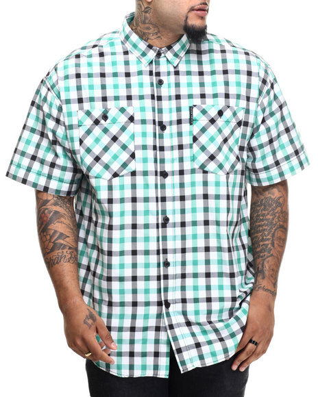 Ur-ID 216151 Ecko - Men Green Lawsonz S/S Button-Down (B&T)