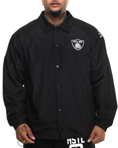Ur-ID 216158 Hustle Gang - Men Black Head Chief Coach Jacket