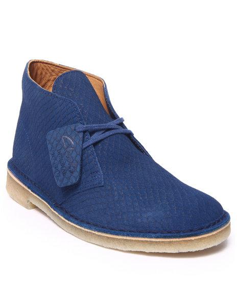Ur-ID 216429 Clarks - Men Blue Desert Boot Snake Leather