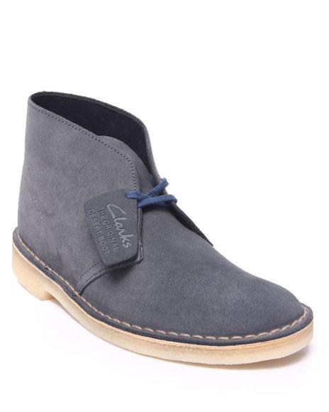 Ur-ID 216432 Clarks - Men Black Desert Boot Denim