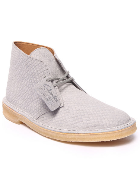 Ur-ID 216433 Clarks - Men Beige Desert Boot Snake Leather