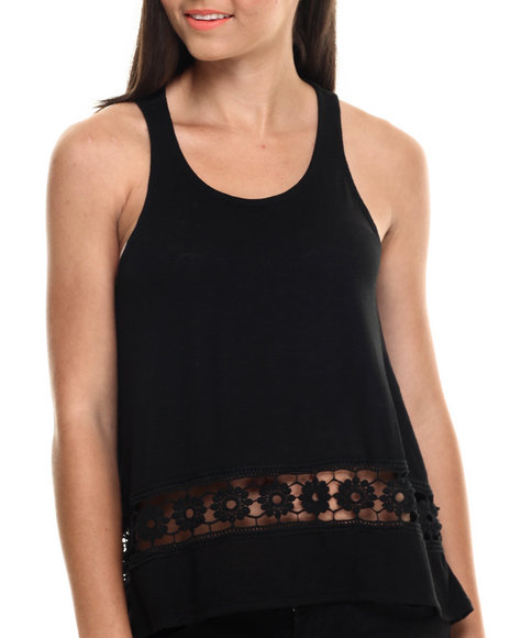 Ur-ID 216441 Fashion Lab - Women Black Trapeze Tank Jersey