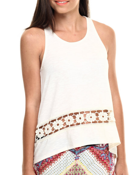 Ur-ID 216445 Fashion Lab - Women Ivory Trapeze Tank Jersey