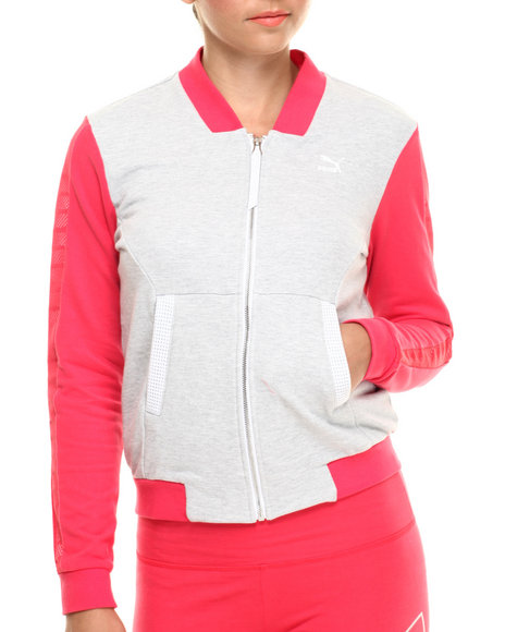 Ur-ID 216449 Puma - Women Light Grey,Pink Bomber Knit Jacket