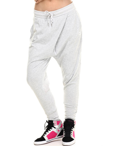 Puma - Women Light Grey Drop Crotch Pants
