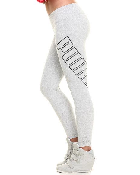 Ur-ID 216451 Puma - Women Light Grey Logo Leggings