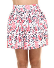 Women - Stretch Cupcake Floral Skirt