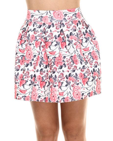 Ur-ID 216338 Freestyle - Women Multi Stretch Cupcake Floral Skirt