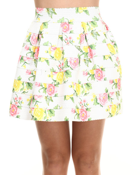 Ur-ID 216339 Freestyle - Women Multi Stretch Cupcake Floral Skirt