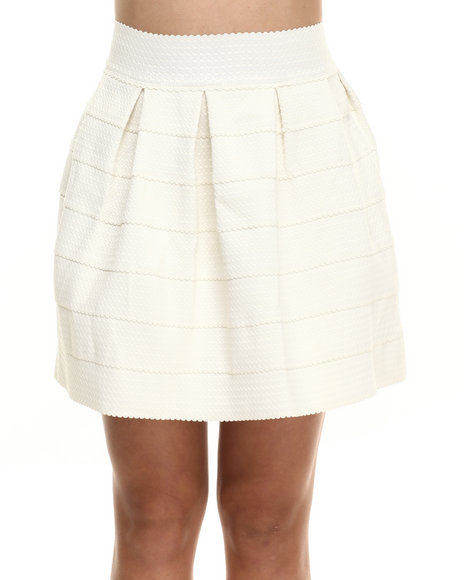 Ur-ID 216340 Freestyle - Women Ivory Stretch Cupcake Floral Skirt