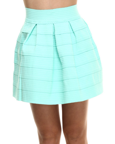 Ur-ID 216341 Freestyle - Women Green Stretch Cupcake Skirt
