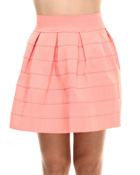 Ur-ID 216342 Freestyle - Women Coral Stretch Cupcake Skirt