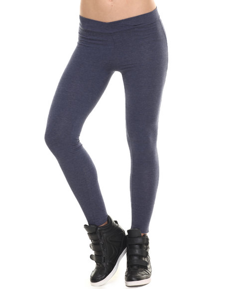 Ur-ID 216443 Fashion Lab - Women Blue Seamless Leggings