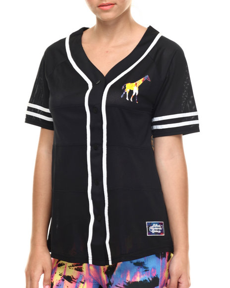 Lrg - Women Black Acid Palm Jersey