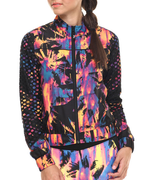 Lrg - Women Black,Multi Acid Palm Windbreaker
