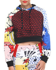 Hoodies - Rita Ora Cropped Super Hoody