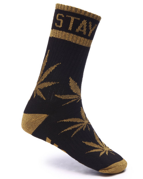 Dgk Men Stay Smokin' Crew Socks Black