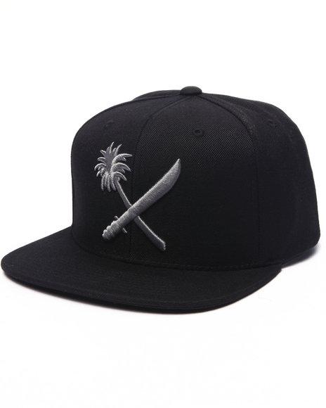 Us Versus Them Men Crosscut Snapback Cap Black , - $26.00