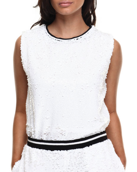 Ur-ID 216490 Street Style - Women White Hard In The Disco Top
