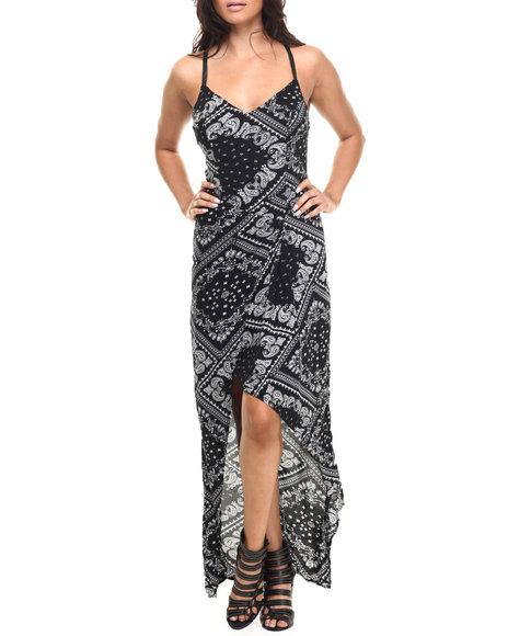 Ur-ID 216509 Street Style - Women Black Paisley Printed Maxi Dress