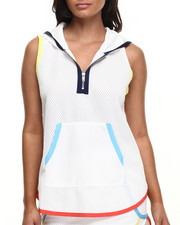 Women - Spartan Mesh Short Sleeve Hoodie w/zipper detail