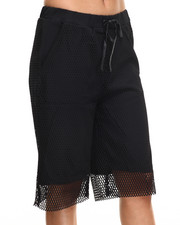 Women - Mesh Culotte Shorts