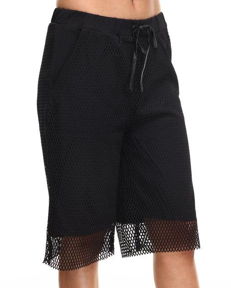 Ur-ID 216497 Street Style - Women Black Mesh Culotte Shorts