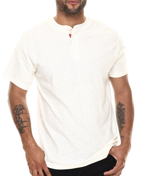 Ur-ID 216516 Buyers Picks - Men Cream Prez Henley S/S Tee