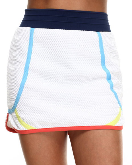 Ur-ID 216519 Street Style - Women White Spartan Mesh Skirt W/Color Block Details