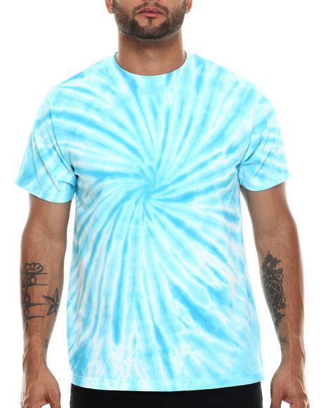 Basic Essentials - Men Turquoise Tie - Dye S/S Tee