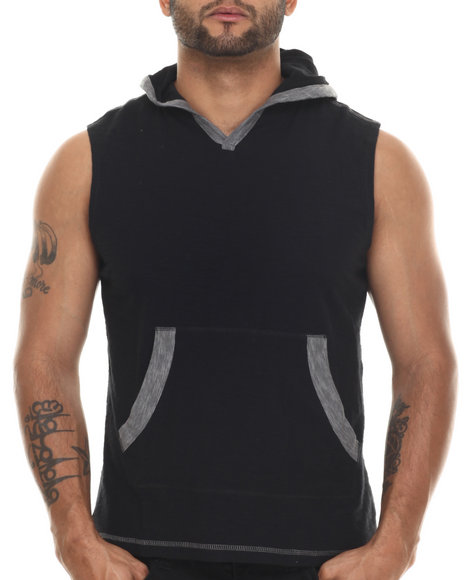 Ur-ID 216467 Buyers Picks - Men Black Carter Sleeveless Hoody