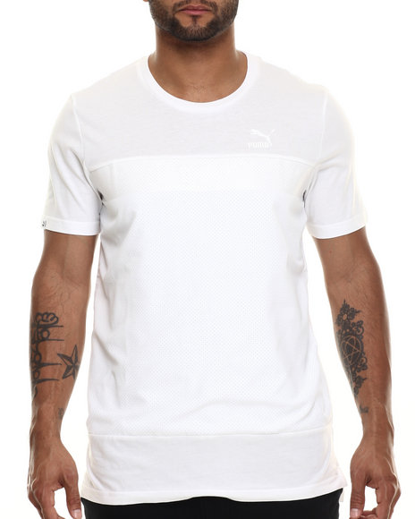 Puma - Men White Fashion S/S Tee
