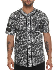Men - Unfollow Button Up Mesh Baseball Jersey