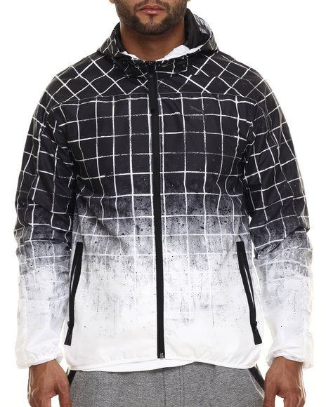 Puma - Men Black Dip - Grid Windbreaker - $49.99